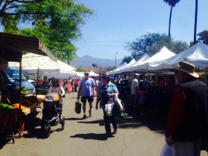 The Santa Barbara Farmers Market, ,located in downtown