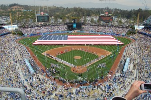 Dodger Stadium during Season Opening (creative commons)