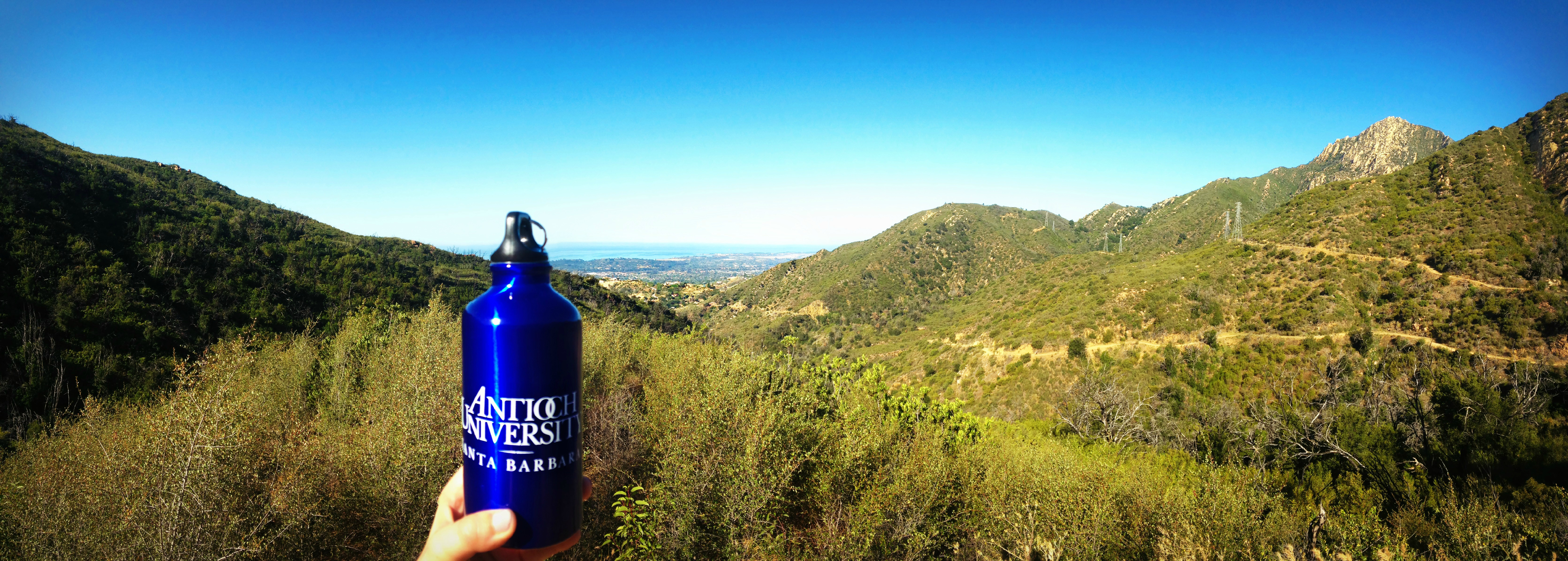 """Keeping my daily routine eco-friendly while enjoying the scenic view from Mission Canyon."" -Kari Jensen"