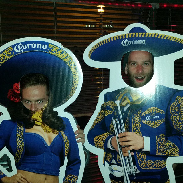 Antioch students Will and Cody celebrating Cinco De Mayo at the Wildcat Lounge. -Cody Sabo