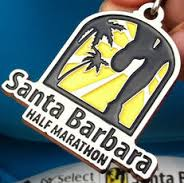 The Half marathon medal given to every runner who finishes the 13.11 miles