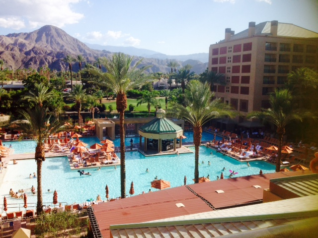 Just arrived in Palm Springs at the Renaissance Hotel. Upgrading to pool view was well worth it! -Sujin Chon