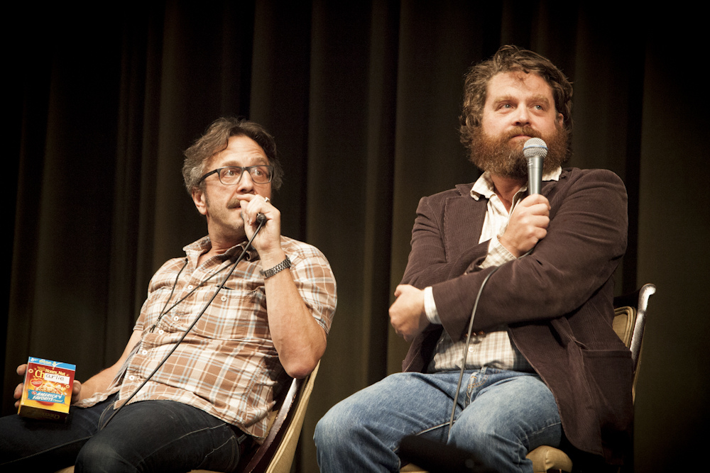 Marc Maron and Zach Galifianakis