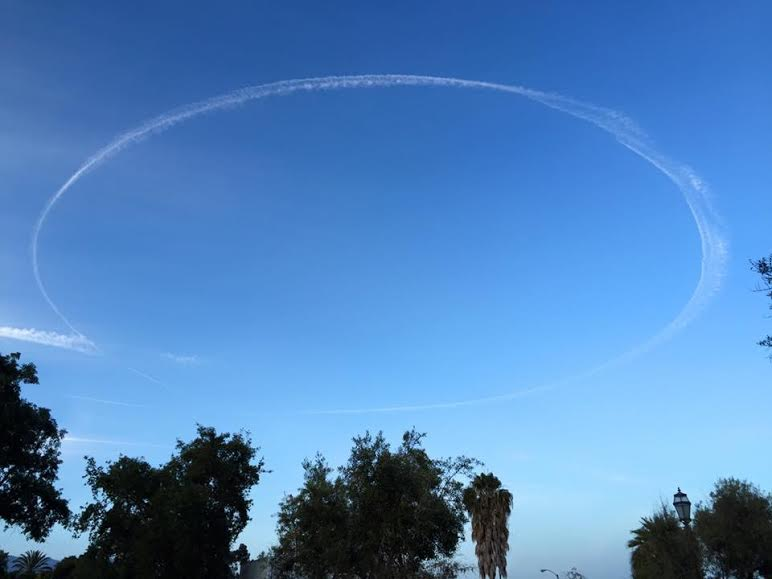 Halo over downtown Santa Barbara, CA... someone is watching over all of us! -David Arnet