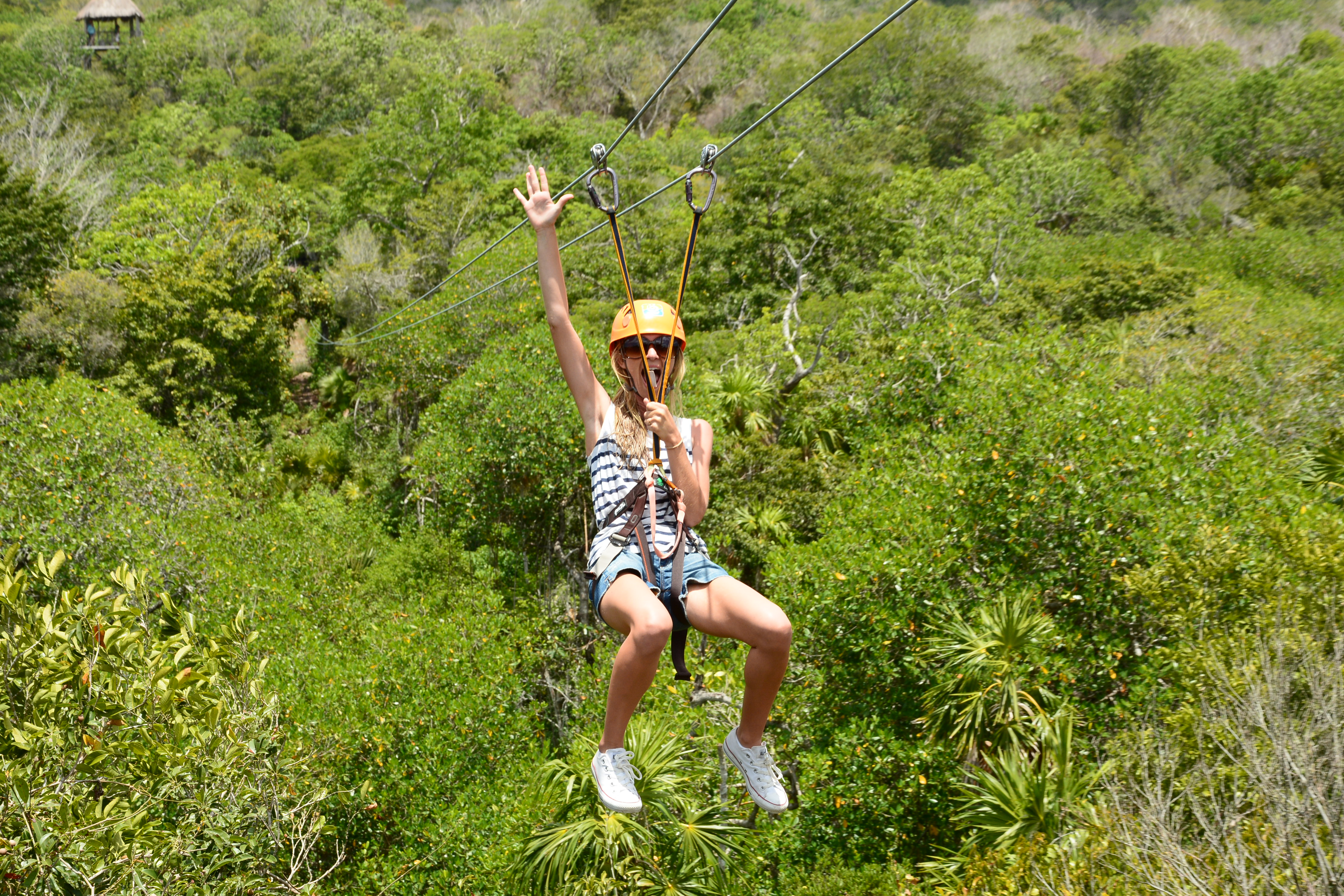 Get married, go zip lining? Might as well. Conquering fears in the Mayan Jungle. -Christina Markos