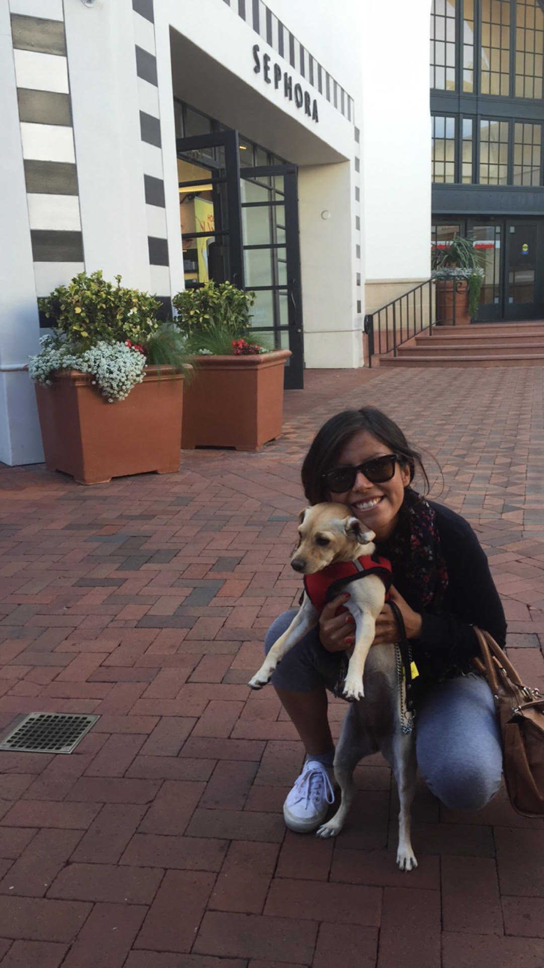 I met a #StudentAtAntioch with her dog Bella, who was featured in a previous article about the difficulties dog owners face when they try to lease a house. -Mia Hayat