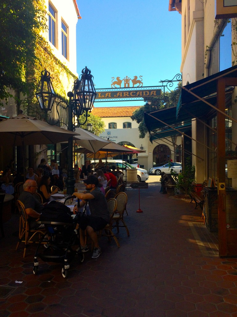 """It's Sunday so naturally all Santa Barbarans have hit La Arcada for brunch."" -Jasmine Maggard"