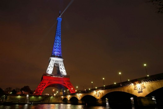 Eiffel Tower Glows in French Colors to Honor Victims