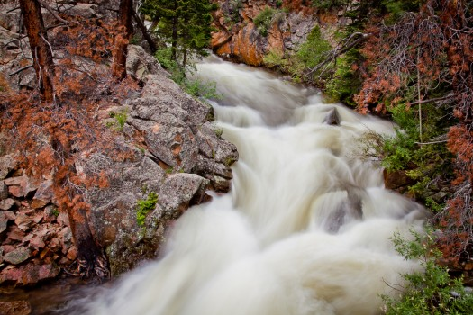 One of the many rivers to be found in Rocky Mountain National Park.