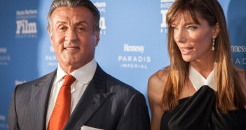Montecito Award honoree Sylvester Stallone and wife Jennifer Flavin, at The Santa Barbara International Film Festival. Tuesday, Feb. 9, 2016.