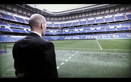 Real Madrid's home Stadium. Zidane's first impression