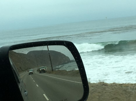 Driving down the PCH looking for waves and sunshine. Tim Ramaker