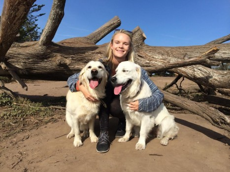"""Pure joy with these two"" Andria Kester"