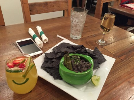 Check out Vegenation next time your in Vegas. A fully plant based restaurant. Just to start we eat Mexican Hummus made with black beans and some organic Riesling and Sangria. @vegenation - Travis Spencer