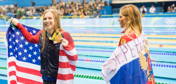 Lilly King and Yuliya Yefimova.Photo credit: Alfredo Pliadžio nuotr.