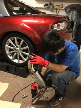 Modifying a new exhaust at home without any mechanical knowledge