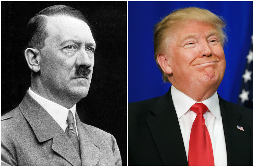 Some people think that the comparison between Adolf Hitler and Donald Trump is a slippery slope.