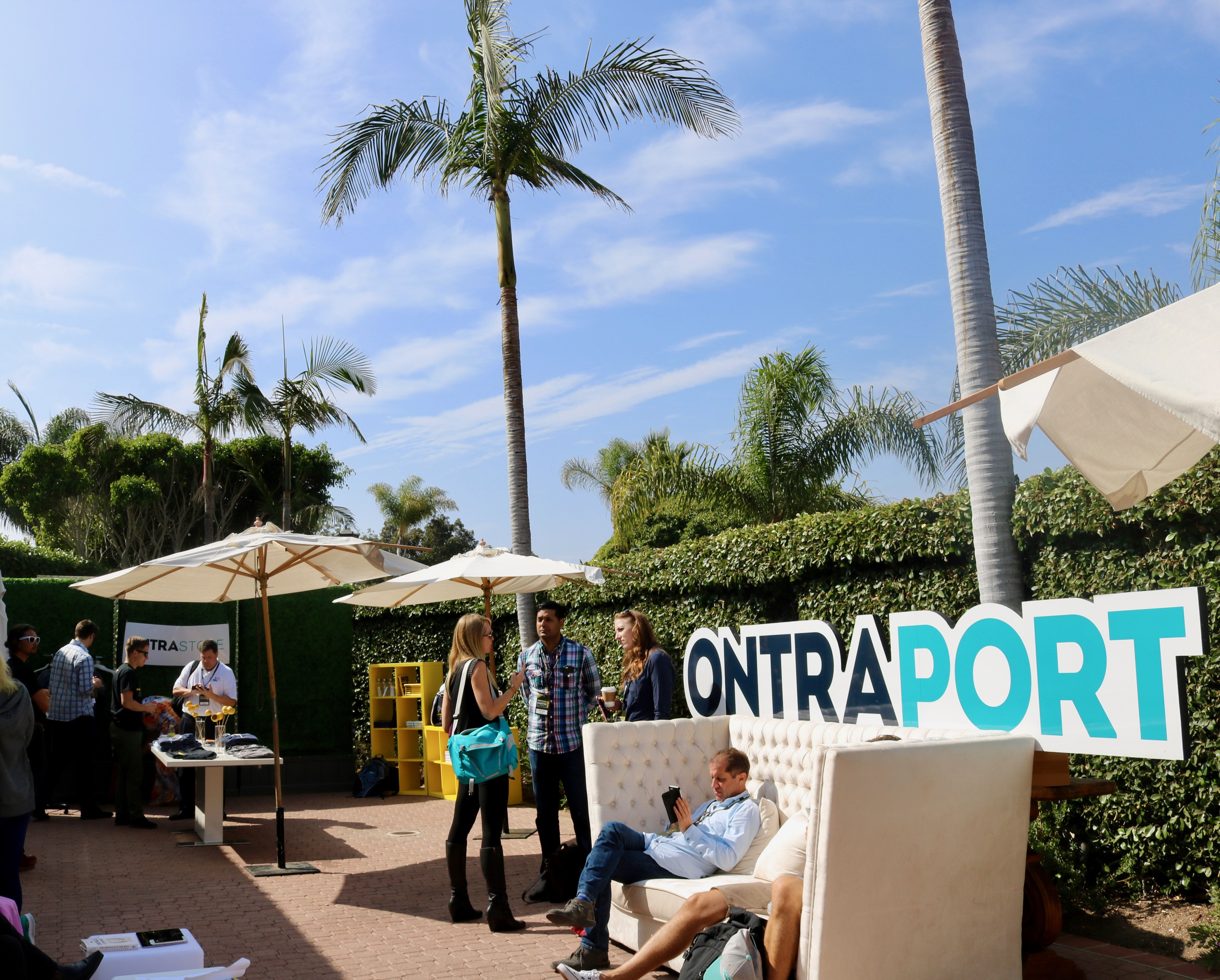 The patio of ONTRApalooza for people to relax and to network with fellow entrepreneurs.