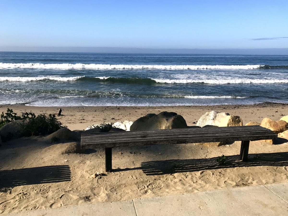 bench and waves_HB