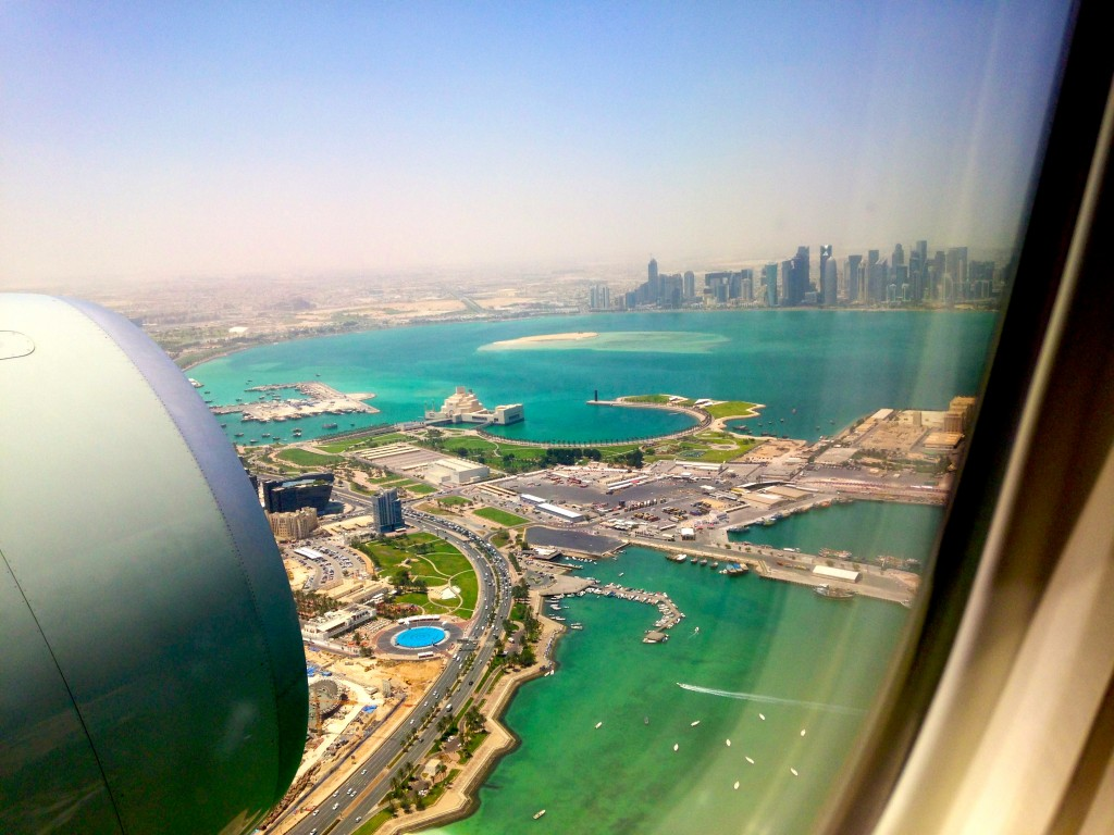 View over Qatar