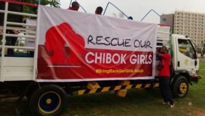 Campaign truck for the 276 kidnapped girls