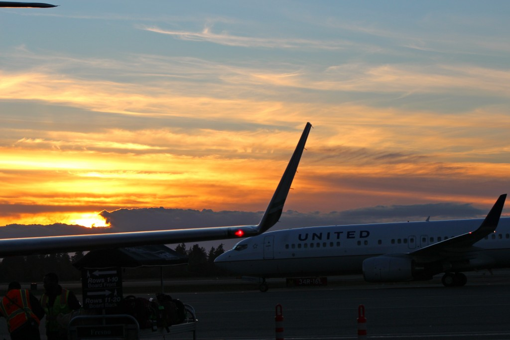 Beautiful sunset over Santa Barbara airport. (Picture by Jim Murray)