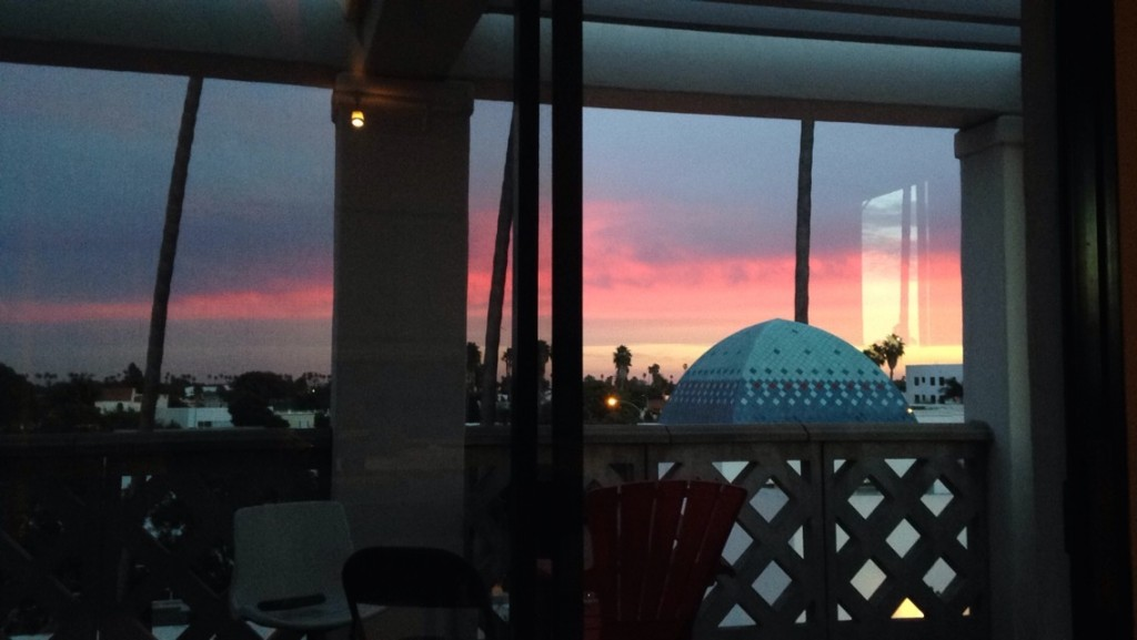 """Beautiful sunset from the 3rd floor of Antioch University"" Picture by Mia Hayat"