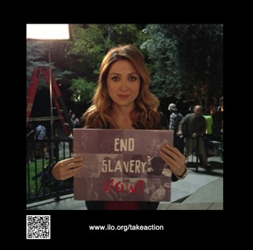 Sasha Alexander joining the International Labor Organizations' campaign to end modern slavery now