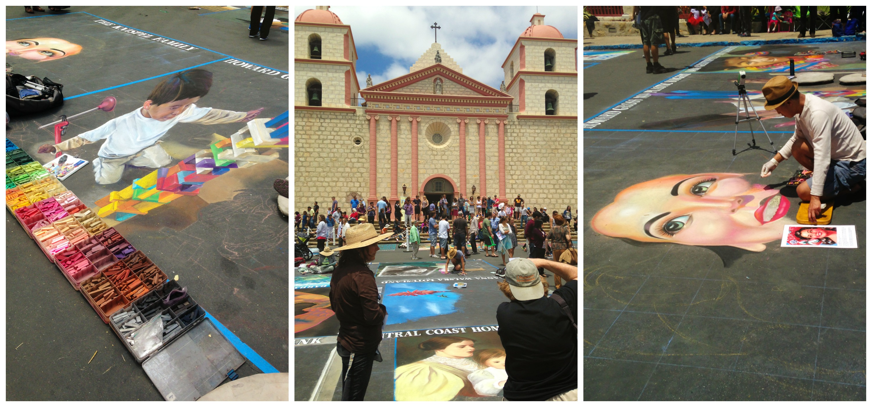 Checked out the I Madonnari Festival  this past weekend. An italian inspired festival  at the Santa Barbara Mission, that benefits the Children's Creative Project sponsored by local businesses. -Kari Jensen