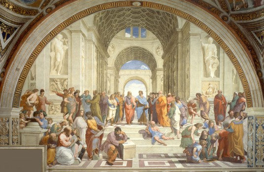 "Raphael's ""School of Athens"". 1505"