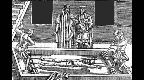 One of the many tortures used during the Inquisition