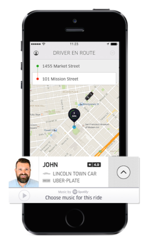 Uber is user friendly for both the rider and drivers