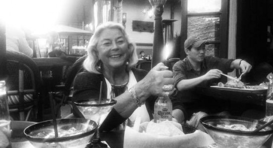 Laughing till I got cramps in my belly when grandma was trying out different bartender tricks at Sandbar restaurant, during her visit from Sweden this weekend. –Carolina Bengtsson