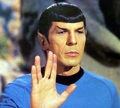 Leonard Nimoy in Star Trek.