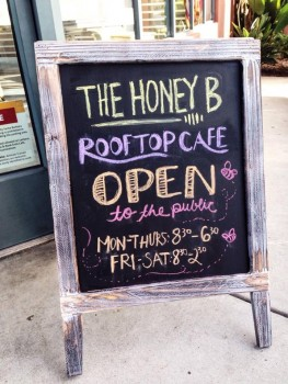 The Honey B rooftop café had their grand opening on October 7th at Antioch University.