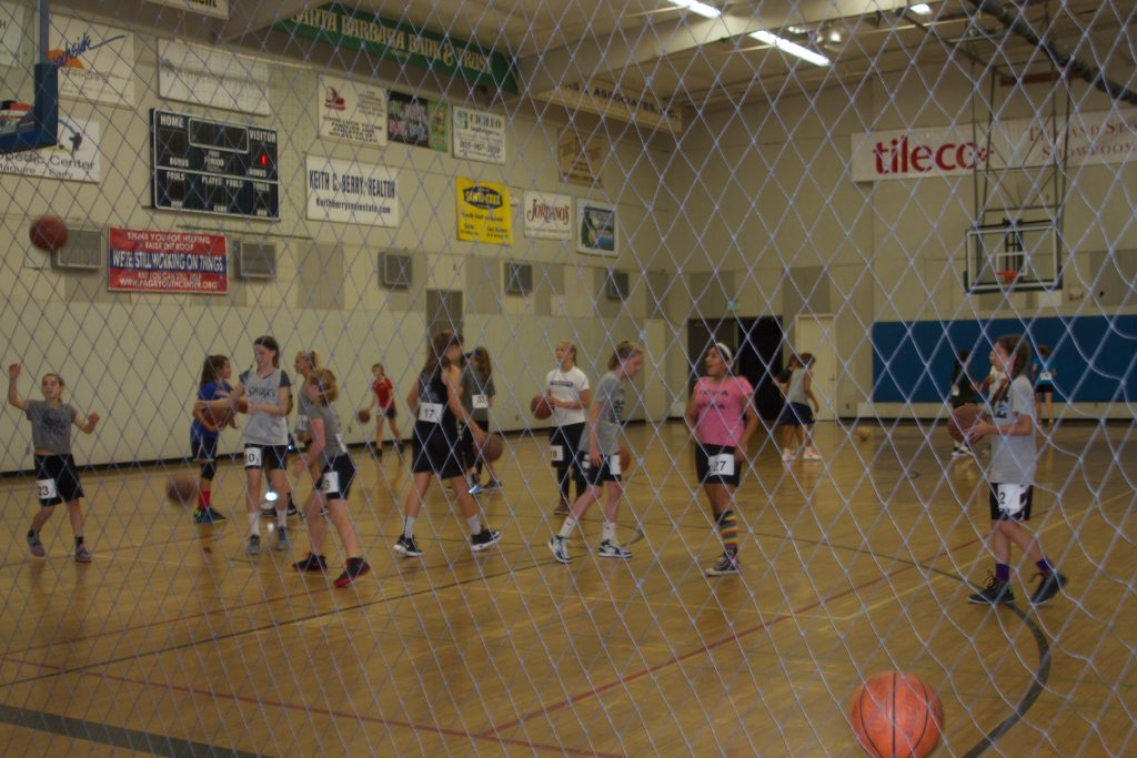 The Page Youth Center winter basketball tryouts - Lia Durham