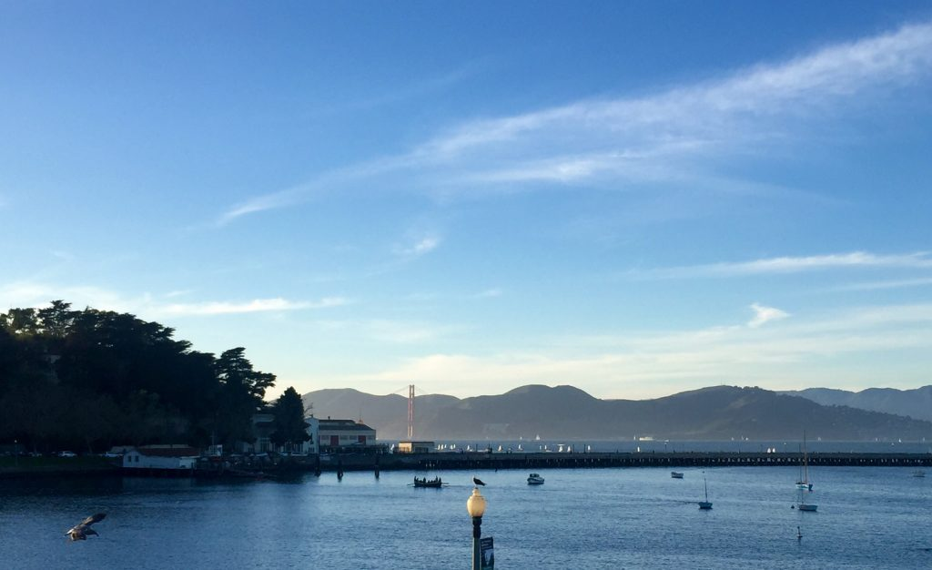 A surprisingly clear sunset at fisherman's wharf - Alicia Briggs