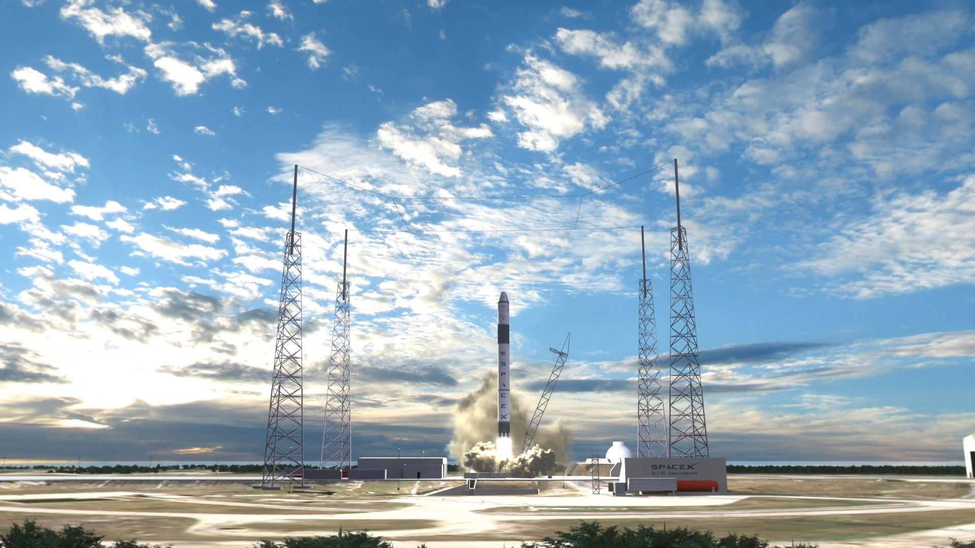 Watching A SpaceX Rocket Launch